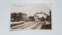 ANTIQUE PHOTO POSTCARD PORTUGAL  ESPINHO - PASSARELLE SOBRE A LINHA DE COMBOIO  UNUSED - Aveiro