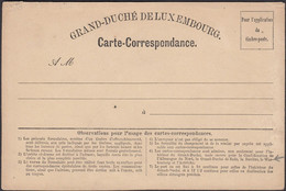Luxembourg - Grand Duché De Luxembourg, Carte Correspondance, French Style I. Date Of Issue, 10.09.1870. - Ganzsachen