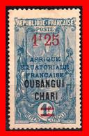 AFRICA ECUATORIAL  ( FRANCIA COLONIAS ) CONGO MEDIO AÑO 1915 CON LA  SOBRECARGA OUBANGUI-CHARI-TCHAD - Ongebruikt