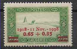 1938 ALGERIE 147** Anniversaire Armistice - Neufs