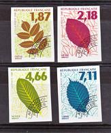 France Préoblitérés 236 239 Feuilles D'arbres Non Dentelé Imperforate Neuf ** TB MNH Sin Charnela Cote 45 - Non Dentellati