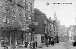 5.Soignies.--Rue De Mons,1.(Bazar'avec De Superbes Fers Forgés!!) - Soignies