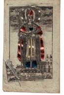 Munich. Saint-Pierre (attribus Poisson Et Clefs), S. Benns. Décorée De Bande Métallique.  Avant 1850 ! - Imágenes Religiosas