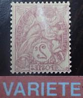 FD/3798 - 1900/1924 - TYPE BLANC - N°108g NEUF* - VARIETE ➤➤➤ Impression RECTO VERSO - Abarten: 1900-20 Ungebraucht