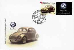 """Croatia 2008   FDC VOLKSWAGEN """"BEETLE"""" Car Cars Voitures Voiture - Coches"""