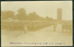 Allemagne Carte-Photo Baden Offenburg  Rekruten Depot Vereidigung  I/E  Infanterie Reg. 172 , 1916 - Offenburg