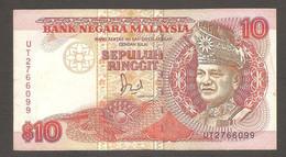 Malesia - Banconota Circolata Da 10 Ringgit P-29 - 1989 #19 - Malaysia