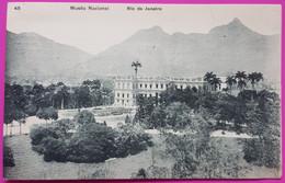 Rio De Janeiro Brazil Museu Nacional Postcard 1912 Brésil Postmark Stamp - Rio De Janeiro