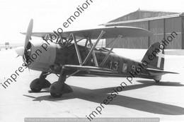 PHOTO AVION  RETIRAGE REPRINT   FIAT CR42 DE LA 85° SQUADRIGHIER DU 18°GROUPE DU CAI FRECCIA - Aviation