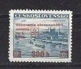 Czechoslovakia 1939 MNH ** Mi A405 Sc 254A Stamps Mi 359 With Overprint.Tschechoslowakei - Unused Stamps