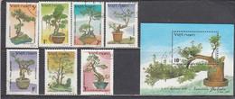 Vietnam 1986 - Bonsai Trees, Mi-Nr. 1743/49+Bl. 50, Used - Vietnam