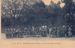 CONGO BELGE / BELGISCH KONGO / KABINDA / UN GRAND CHEF ET SA COUR  1924 - Congo Belga - Otros