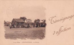 CONGO BELGE / BELGISCH KONGO / LEOPOLDVILLE / LE MARCHE  1919 - Kinshasa - Leopoldville