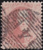 Belgie   .   OBP    .    16A      .     O    .    Gebruikt    .   /   .    Oblitéré - 1863-1864 Medallions (13/16)