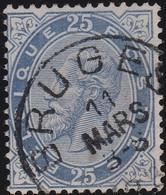 Belgie   .   OBP    .   40    .     O    .    Gebruikt    .   /   .    Oblitéré - 1883 Leopoldo II