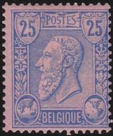 Belgie   .   OBP    .    48a      .   *     .    Ongebruikt Met Gom   .   /   .   Neuf Avec Gomme Et Charnière - 1883 Leopoldo II