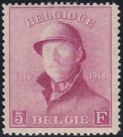 Belgie   .   OBP    .    177  (2 Scans)       .   **     .    Postfris   .   /   .   Neuf Avec Gomme Et SANS Charnière - 1919-1920 Trench Helmet
