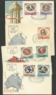 POLOGNE - POLSKA / Série Complète Lot Set 4 FDC - Zomer 1956: Melbourne