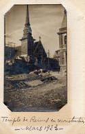 51.MARNE // REIMS. LE TEMPLE EN RECONSTRUCTION 1923 // (photo Sur Cp) - Reims