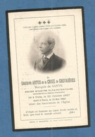 Image GENEALOGIE FAIRE PART DECES NOBLESSE GUSTAVE ARTUS DE LA CROIX DE CHEVRIERES MARQUIS DE SAYVE 1827 1904 - Avvisi Di Necrologio