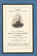Image GENEALOGIE FAIRE PART DECES NOBLESSE MARQUISE  DE LA CROIX DE CHEVRIERES DE SAYVE 1836 1915 - Avvisi Di Necrologio