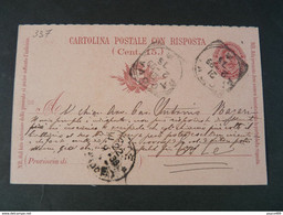 "337 ITALIA Regno Interi-1899- Storia Postale ""Effigie"" C. 7 1/2 USº (descrizione) - Stamped Stationery"