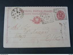"332 ITALIA Regno Interi-1897- Storia Postale ""Effigie"" C. 10 USº (descrizione) - Stamped Stationery"