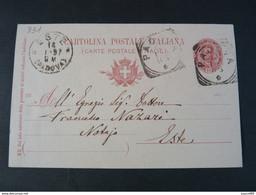 "331 ITALIA Regno Interi-1897- Storia Postale ""Effigie"" C. 10 USº (descrizione) - Stamped Stationery"