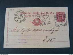 "327 ITALIA Regno Interi-1894- Storia Postale ""Effigie"" C. 10 USº (descrizione) - Stamped Stationery"