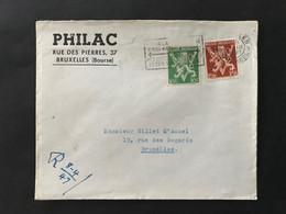 Briefomslag Heraldieke Leeuw OBP 675A+681A - Niet Gequoteerd OBP - Sin Clasificación