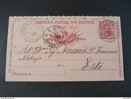 "325 ITALIA Regno Interi-1892- Storia Postale ""Effigie"" C. 7 1/2 USº (descrizione) - Stamped Stationery"