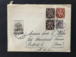 Briefomslag Heraldieke Leeuw OBP 674 (x2) + 681 - Niet Gequoteerd OBP - Sin Clasificación