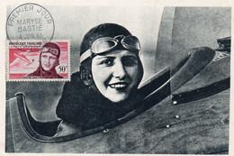 MARYSE BASTIE - 1er Jour : 4 Juin 1955 - Née à Limoges, Décédée Lors D'un Meeting à BRON - Aviatori