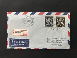 Briefomslag Heraldieke Leeuw OBP 687 + 689 - Sin Clasificación