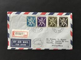 Briefomslag Heraldieke Leeuw OBP 676 + 679 + 688 + 689 - Sin Clasificación