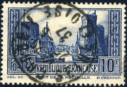 """FRANCE - Yv.261 - 10fr La Rochelle T.III Oblitéré """" CORBEIL / SEINE ET OISE """" TB - Gebruikt"""