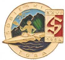 """1984. """"Sobieski Túra - XXVI 1984"""" Műgyantás Jelvény (37x30mm) T:1- - Sin Clasificación"""