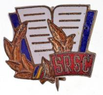"""Románia DN """"SRSC"""" Zománcozott Fém Jelvény (15x17mm) T:2 Romania ND """"SRSC"""" Enamelled Metal Badge (15x17mm) C:XF - Sin Clasificación"""