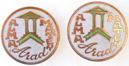 "Románia DN ""Arad - Alma Mater"" Zománcozott Aranyozott Jelvény (2x) (30mm) T:2 Romania ND ""Arad - Alma Mater"" Enamelled,  - Sin Clasificación"