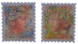 Svájc DN. Svájci Bélyegek Képével Díszített, Bélyeg Alakú Kitűzők (2xklf), Műanyag Tokban T:1 - Sin Clasificación