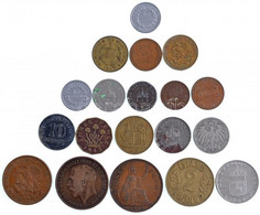 19db Vegyes Magyar és Külföldi Fémpénz, Közte Mexikói, Amerikai, Izlandi érmék T:vegyes 19pcs Of Mixed Coins, With Coins - Sin Clasificación