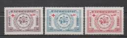 Cambodge N° 81 à 83**, Croix Rouge - Cambodja