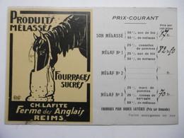 REIMS La FERME Des ANGLAIS Carte Publicitaire Commande - CPA Circulée Année 1920 51 MARNE - Reims