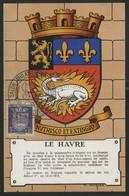 FRANCE N° 561 BLASON DU HAVRE SUR CARTE MAXIMUM EN 1954 (voir Description) - 1940-49