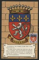 FRANCE N° 572 ARMOIRIES DU LYONNAIS SUR CARTE MAXIMUM EN 1954 (voir Description) - 1940-49