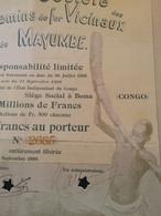 Chemin De Fer Mayumbe 1898 DECO - Africa