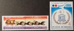 Roumanie 1986 / Yvert N°3706 + 3711 / ** - Ongebruikt