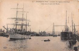 """Port Rouen-76-Seine Maritime-BATEAU-NAVIRE-VOILIER Le """" POURQUOI PAS """" Mission CHARCOT Antarctique-Pôle Nord-Sud-Polaire - Zeilboten"""