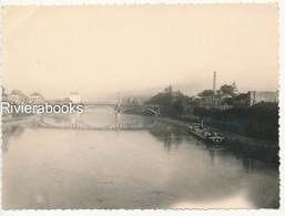 P82 - Photo Ancienne 1958 - Lagny Sur Marne Le Pont Joffre Péniche - Places