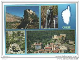 CPM Corte, Pascal Paoli, Carte De Corse évidée, Trouée Multivues - Corte